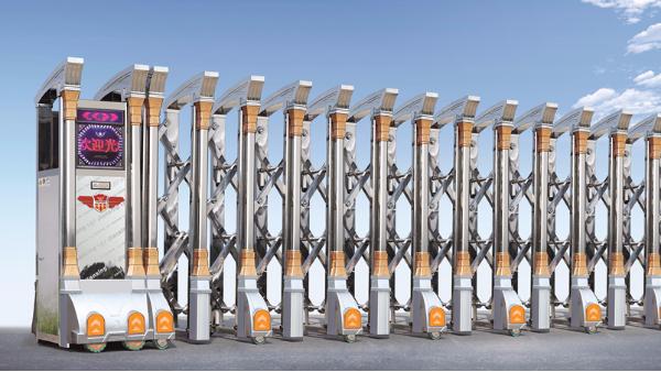 伸缩门厂家教您车牌识别道闸和电动伸缩门如何搭配使用!