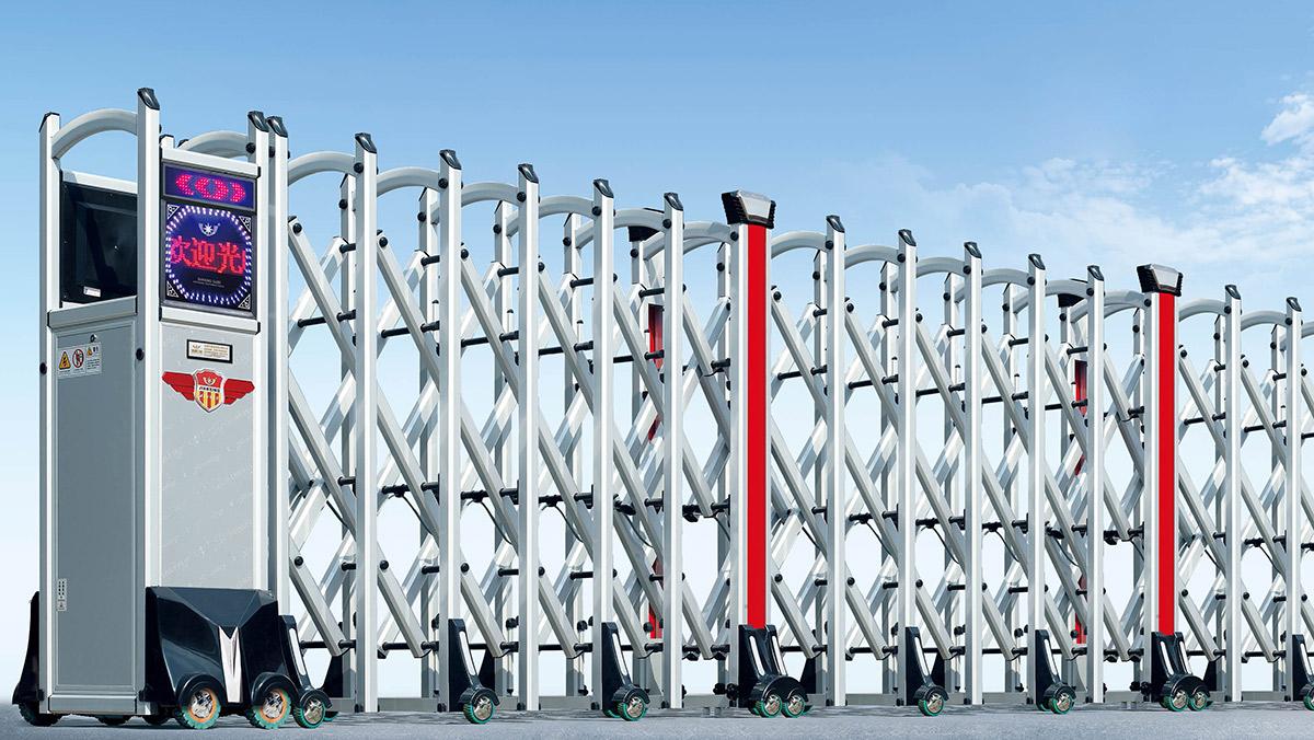 280银盾系列电动伸缩门展示图