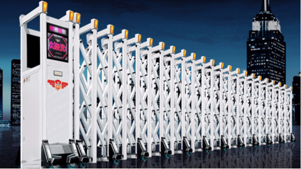 建星智能厂家这几款电动伸缩安装在学校大门,颜值立马显现